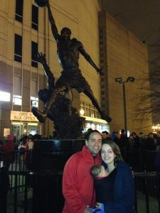 At the Chicago Bulls game with the family
