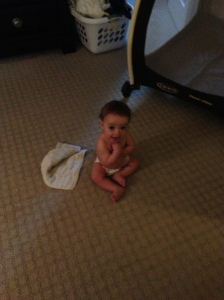 pause between diaper blow out and puking