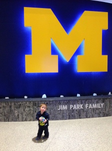 At the University of Michigan basketball game