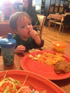 Mexican food is a hit.  Though I shouldn't be surprised for how much of it I ate while pregnant (mmmm.... enchiladas)